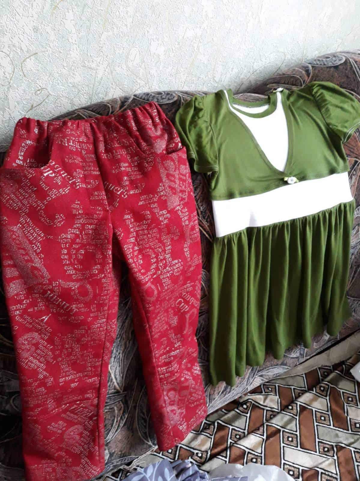 Платье и штаны для племянницы Ирины